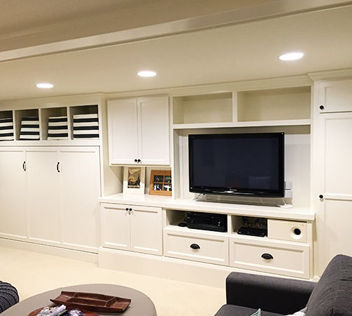 Basement Remodel with Built-ins