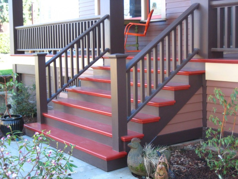 Custom Front Porch Stairs
