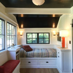 Remodeled Sleeping Porch with Beds and Built-ins