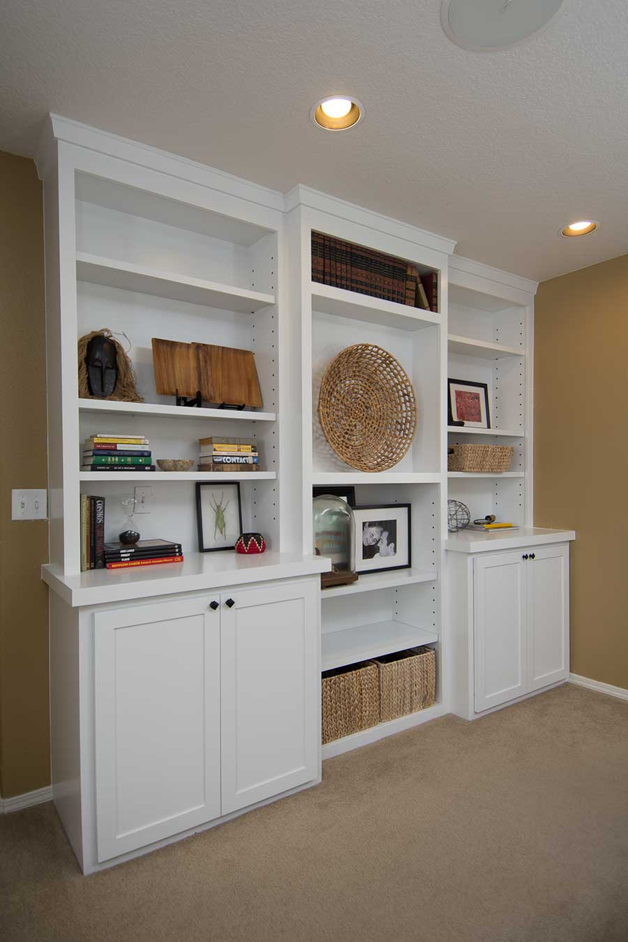 Bookcases cabinets built ins best home design 2018 for Custom built cabinets
