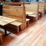 Oregon White Oak Booths + Tables