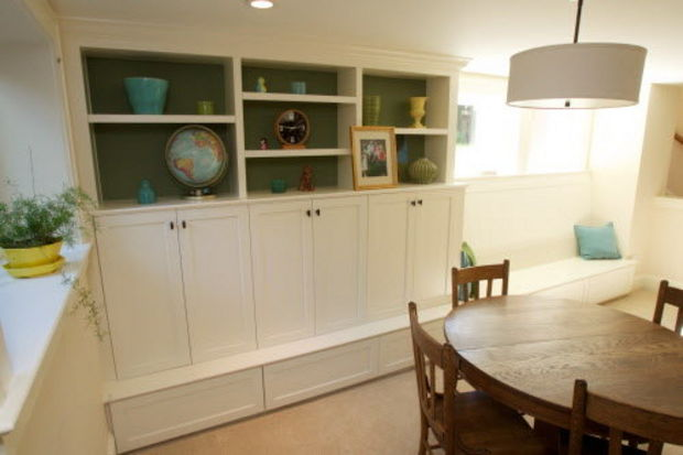 Basement built-in cabinets