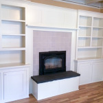 Built-Ins Around Fireplace Mantel