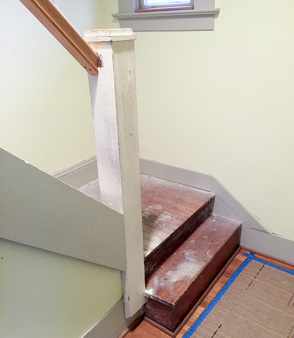 Before Bungalow Staircase Remodel