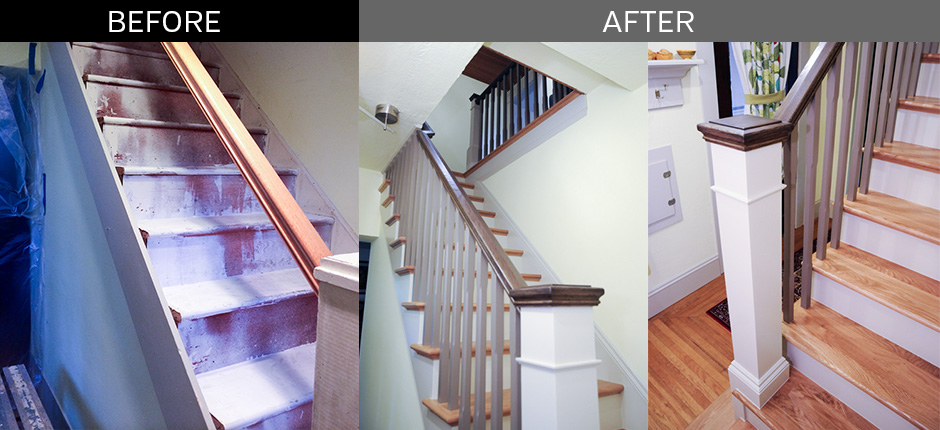 Before & After Staircase Remodel