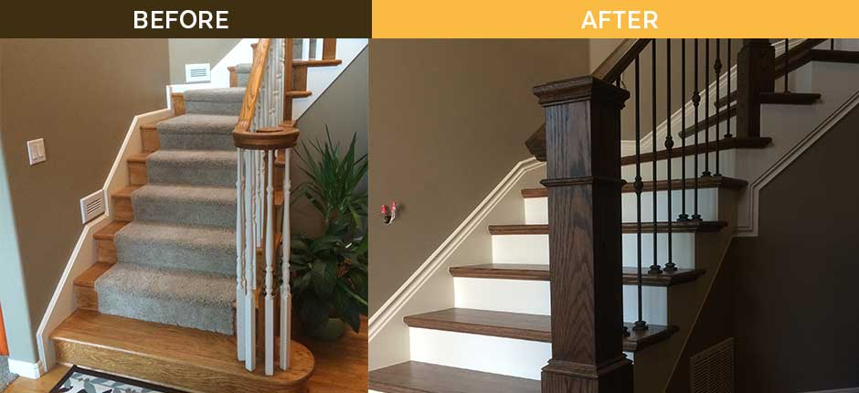 Staircase Overhaul Before After Photos