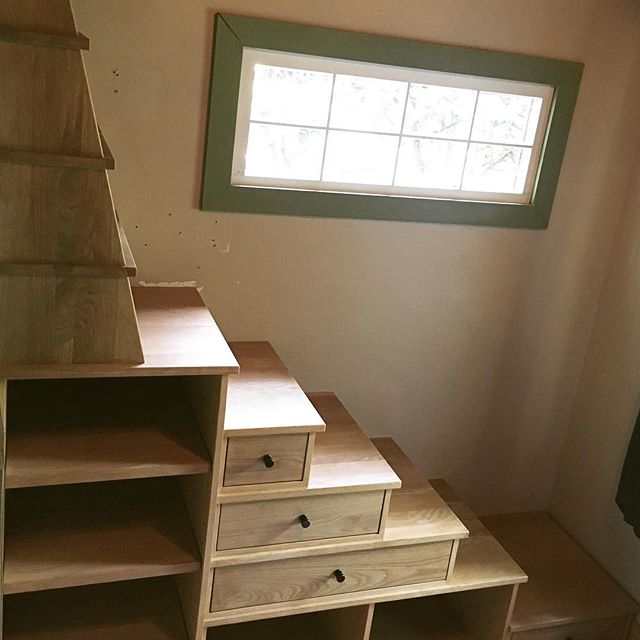Custom staircase with storage