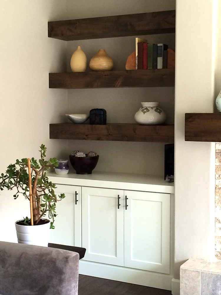 Knotty Alder Beam Builtin Shelves Young Amp Son Woodworks