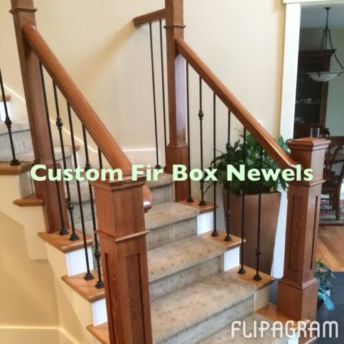 Custom Fir Box Newels