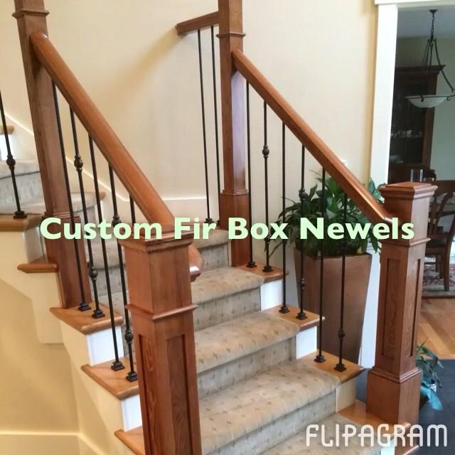 Custom Fir Box Newels