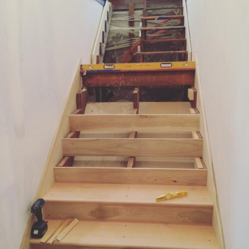 Remodeled Basement Staircase