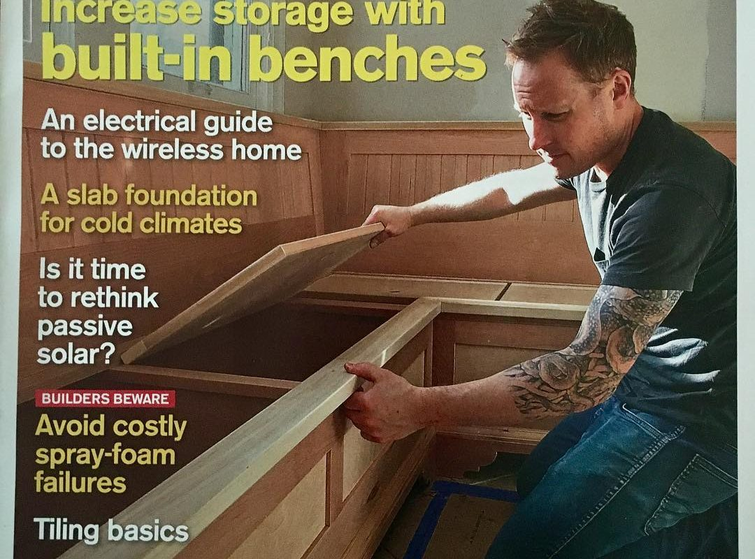 Andrew on the cover of Fine Homebuilding